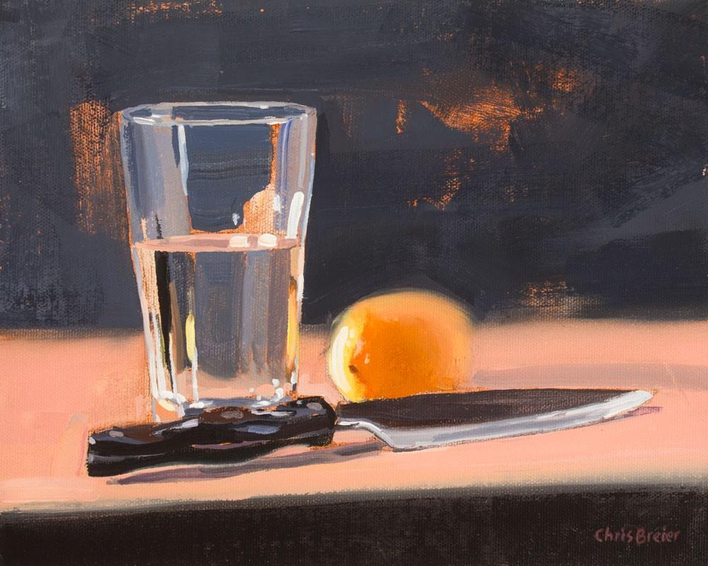 """""""Lemon Water"""" original fine art by Chris Breier"""