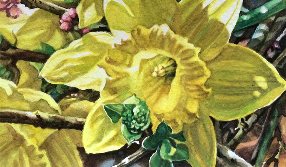 """""""2016: Lauren's Daffodil"""" original fine art by Nicoletta Baumeister"""