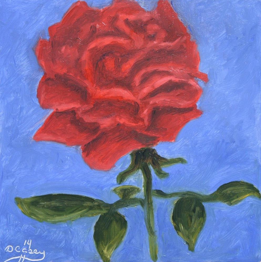 """Rose 002"" original fine art by Dave Casey"