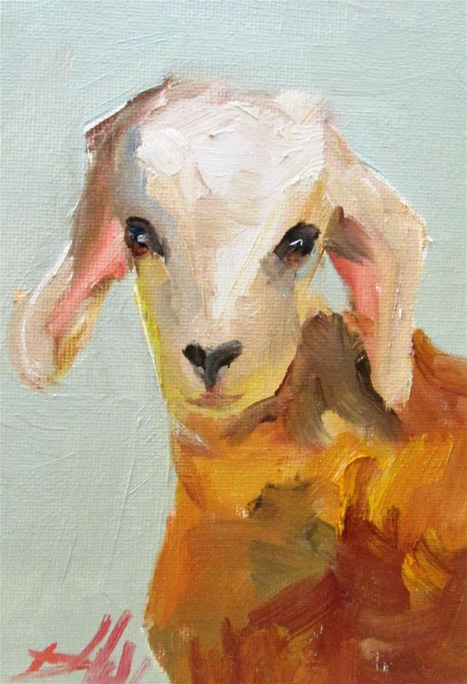 """Goat No. 6"" original fine art by Delilah Smith"