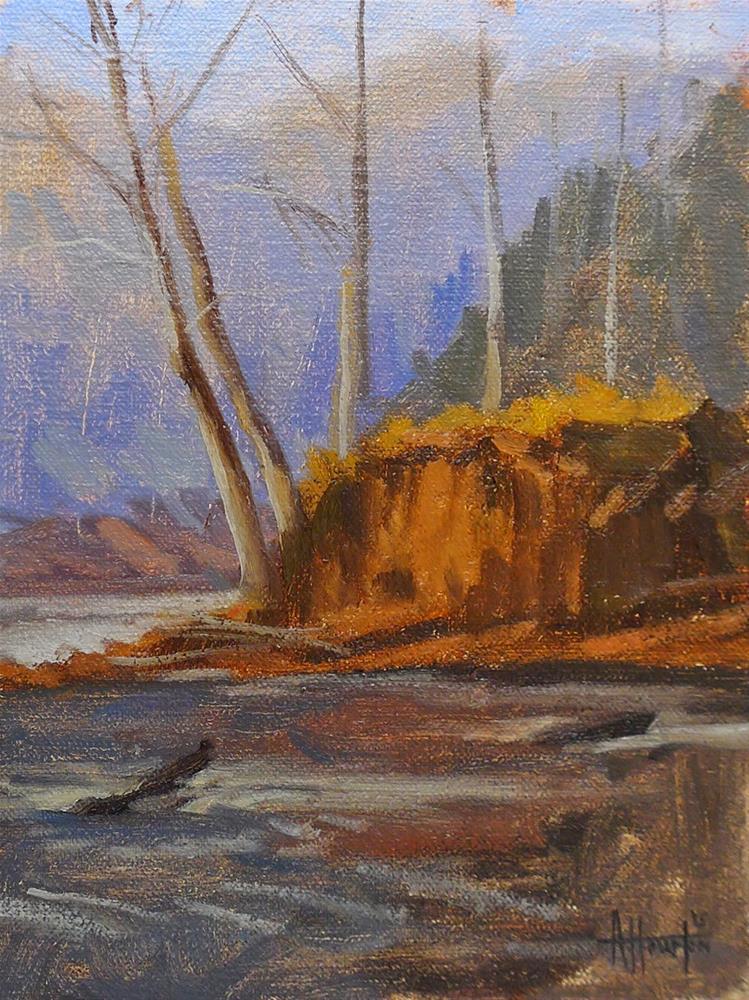 """Bowmans Island Bluff"" original fine art by Adam Houston"