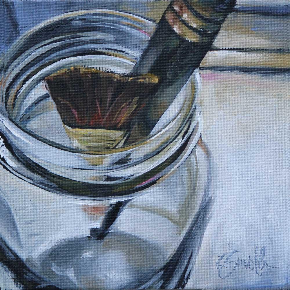 """brushes"" original fine art by Kim Smith"