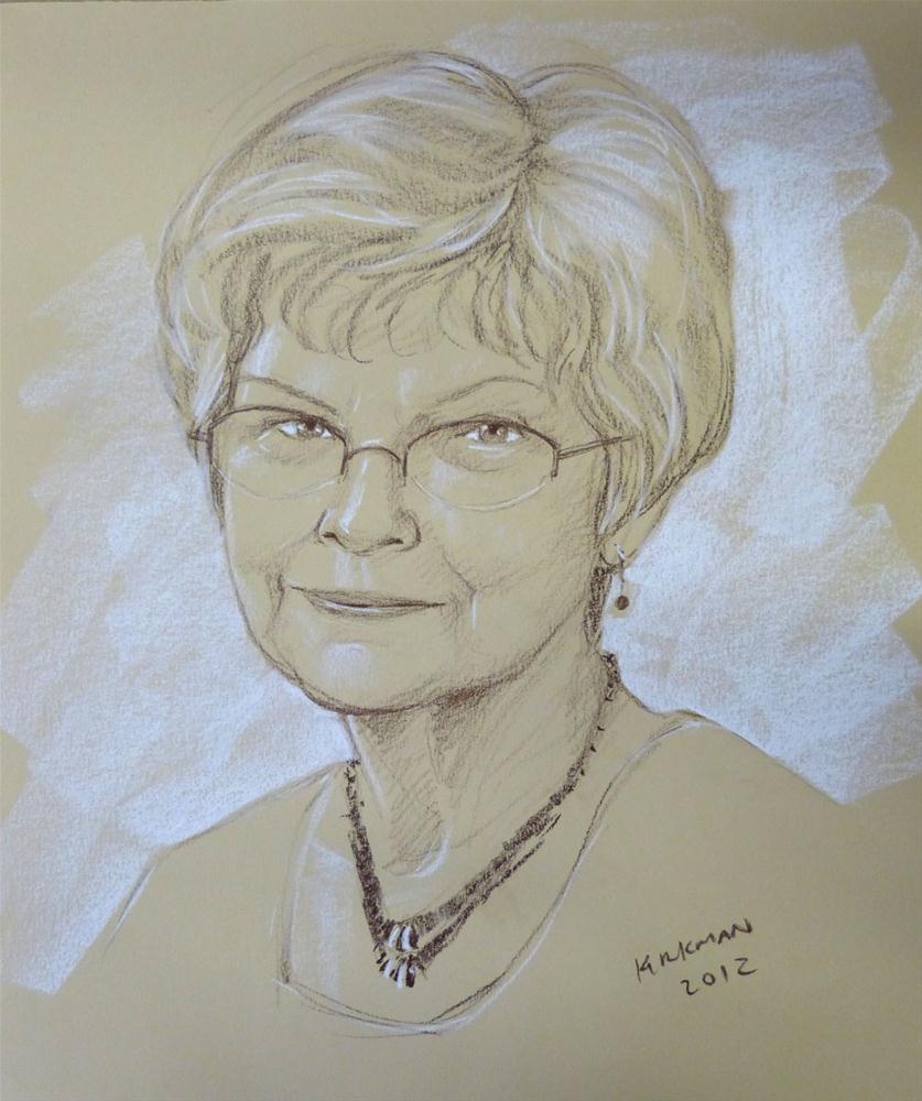 """Nancy - 15 minute Quick Sketch Portrait"" original fine art by Rita Kirkman"