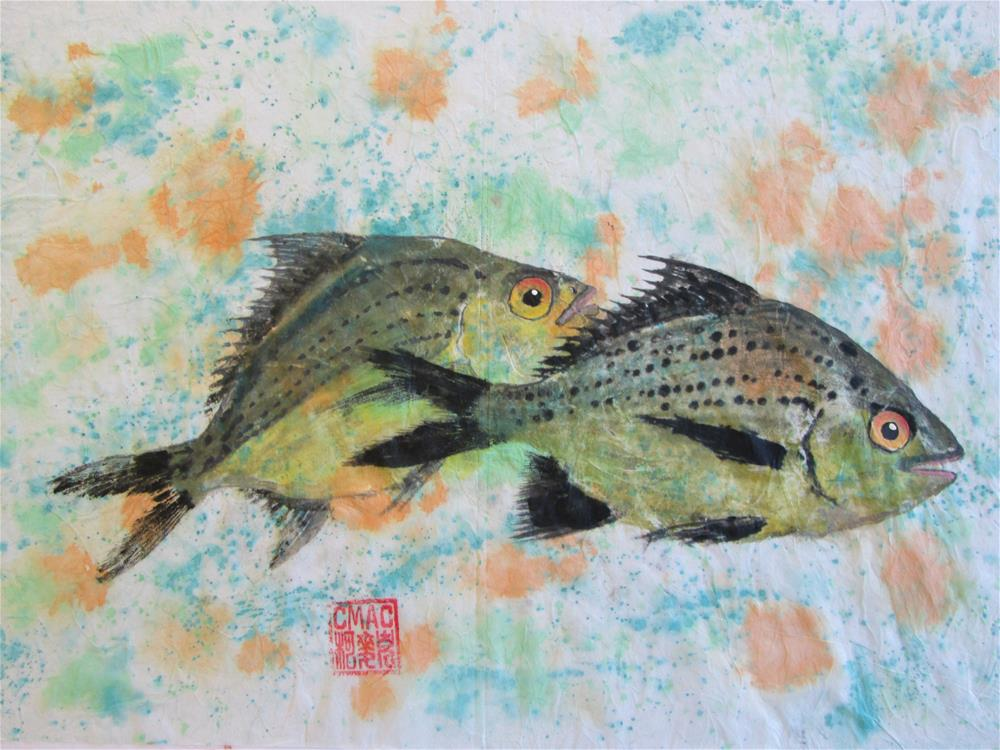 """Gyotaku  of Moharra fish"" original fine art by Chris MacCormack"