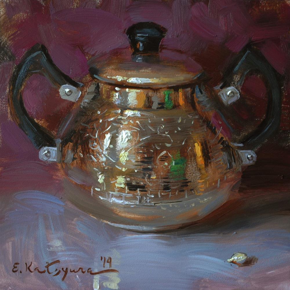 """Sugar Bowl on Purple"" original fine art by Elena Katsyura"