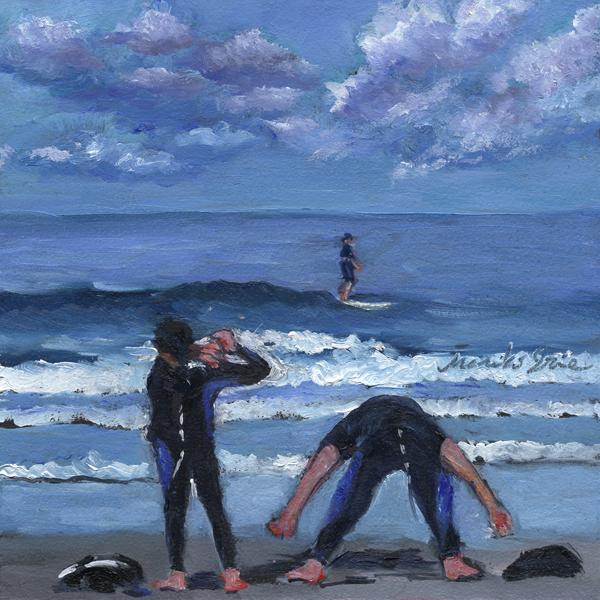 """Ready for Surfing"" original fine art by Mariko Irie"