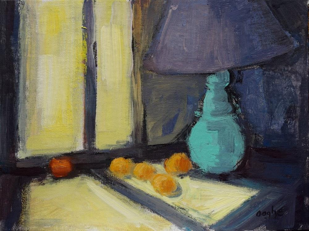 """Oranges in Sunlight"" original fine art by Angela Ooghe"