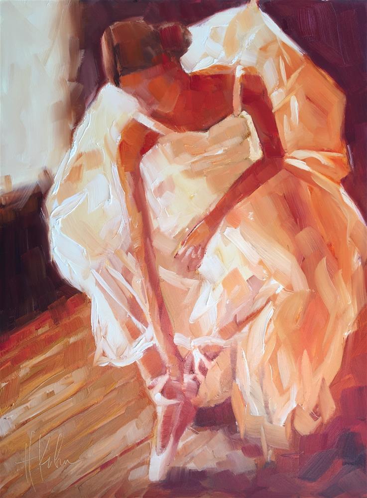 """Stretching"" original fine art by Hallie Kohn"