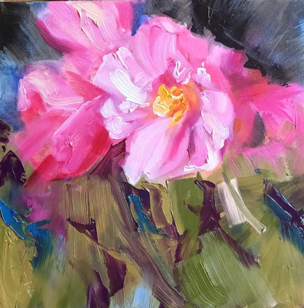 """My Favorite Camellias"" original fine art by Charlotte Fitzgerald"