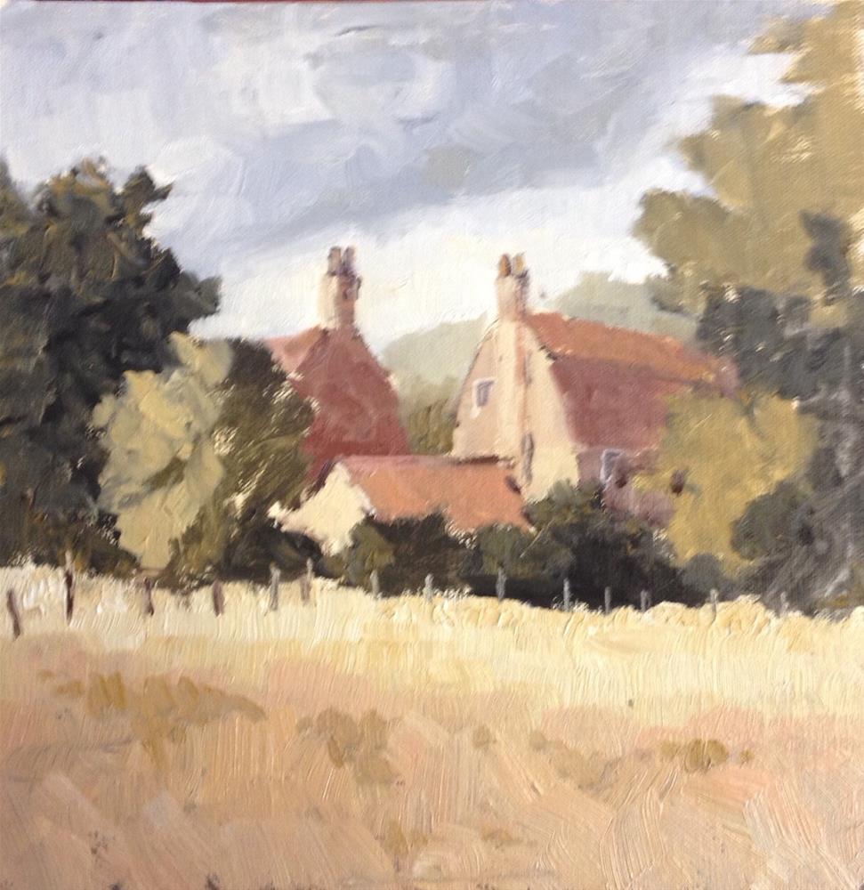 """Across the field"" original fine art by Mo Teeuw"