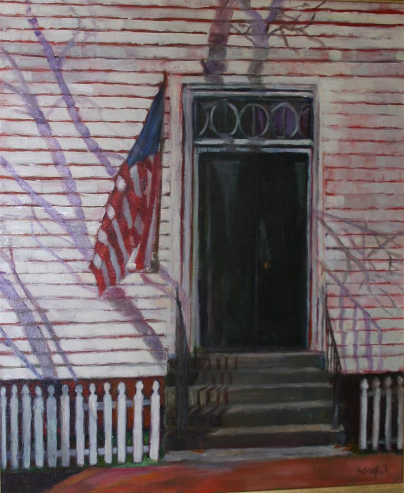 """Mary Washington Door"" original fine art by Carol Josefiak"