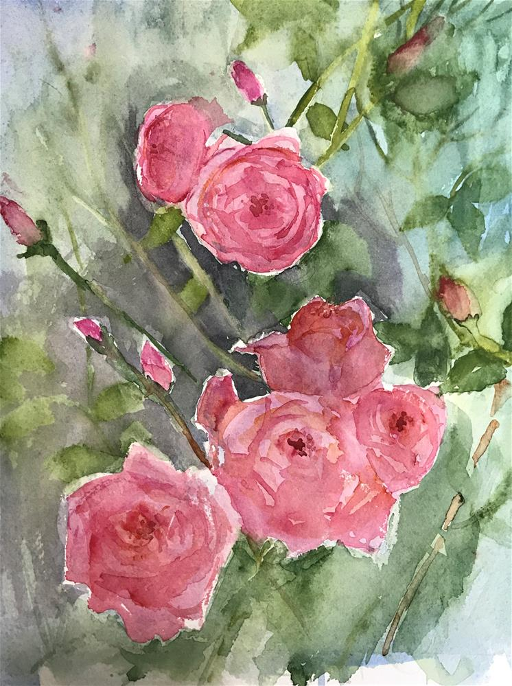 """lovely pink roses"" original fine art by Betty Argiros"