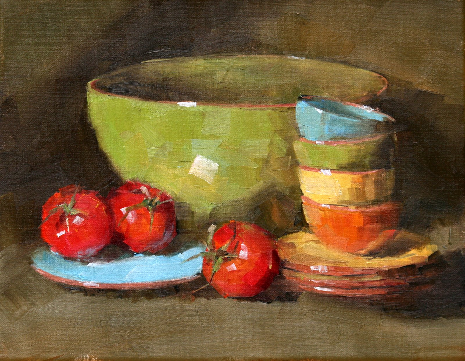 """stacked"" original fine art by Carol Carmichael"