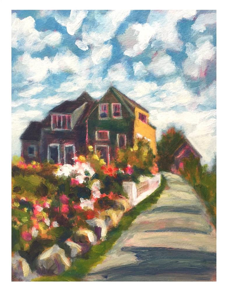 """Early Morning Light on Monhegan"" original fine art by Suzanne Woodward"