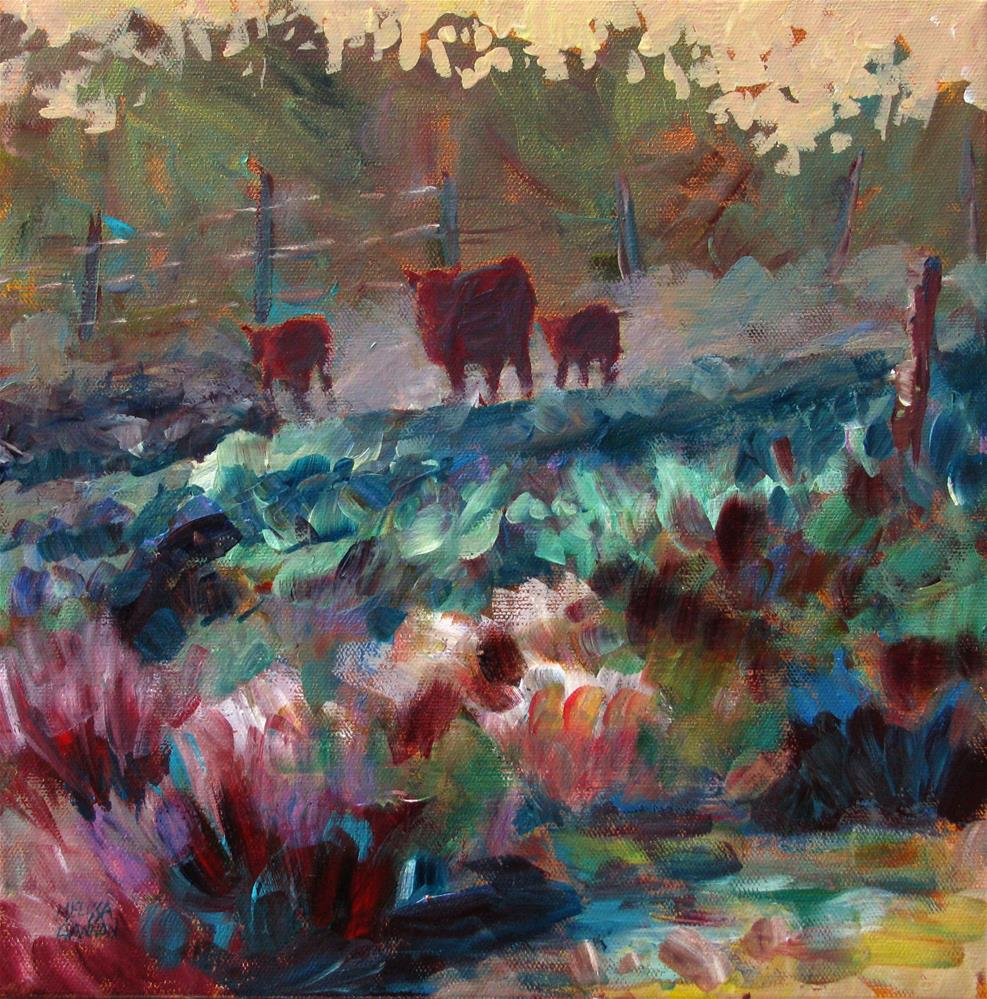 """Coming for the Hay"" original fine art by Melissa Gannon"