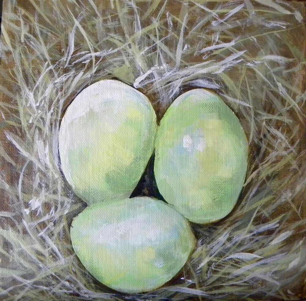 """Easter Eggbert"" original fine art by cheryl buhrman"