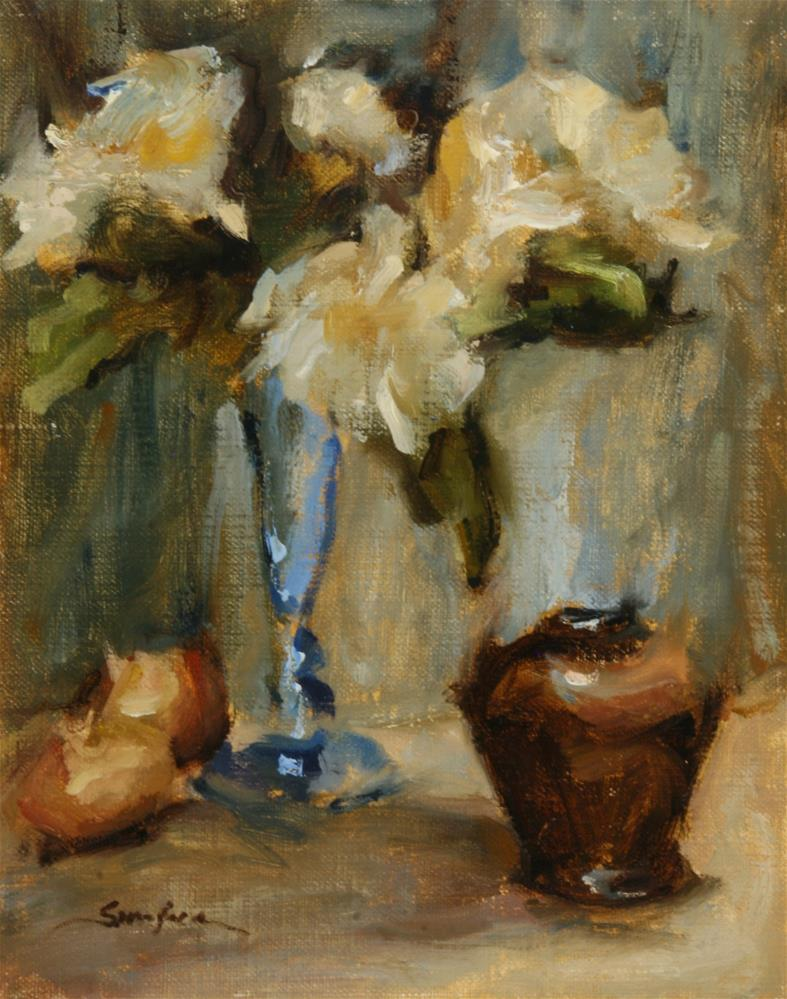 """Flowers and Pearl Onions"" original fine art by Scott Serafica"