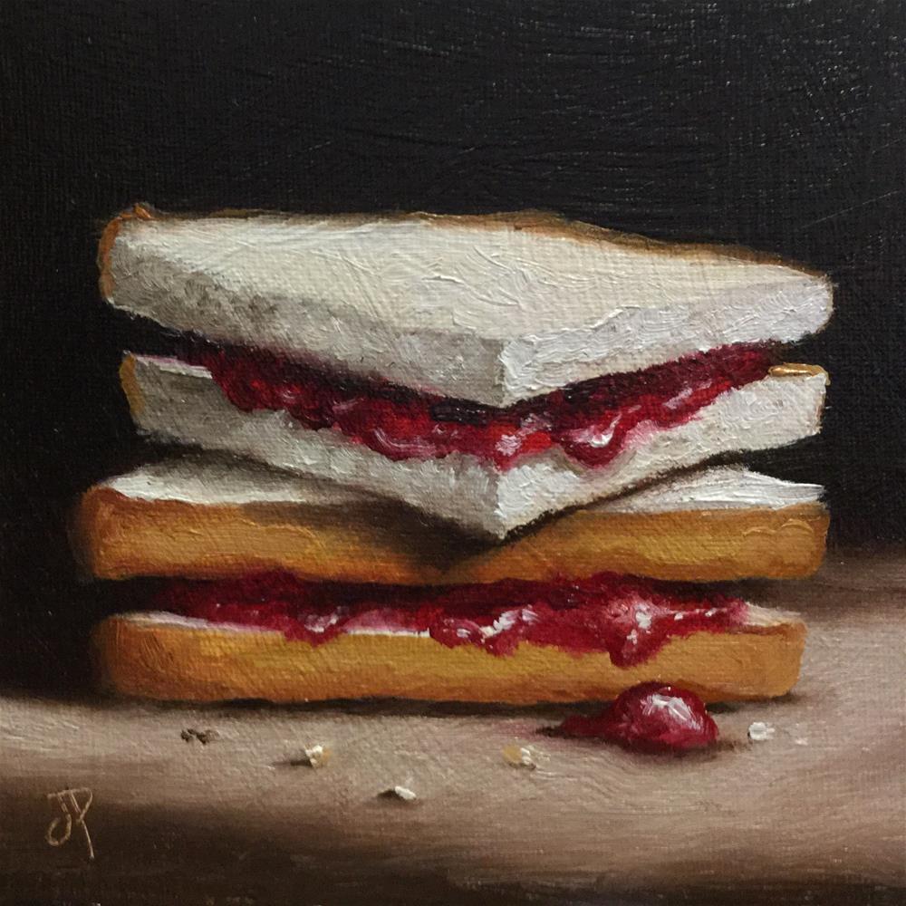 """Jam Sandwich"" original fine art by Jane Palmer"
