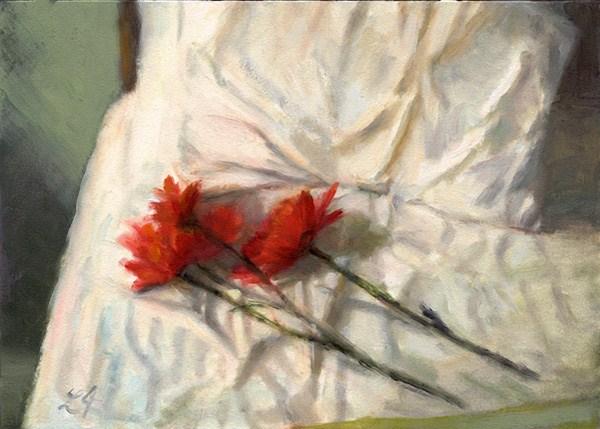 """Flower Bed"" original fine art by Linda Jacobus"