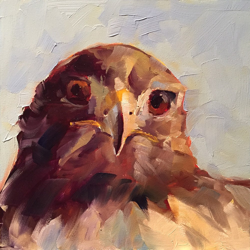"""seeing eye to eye"" original fine art by Kim Smith"