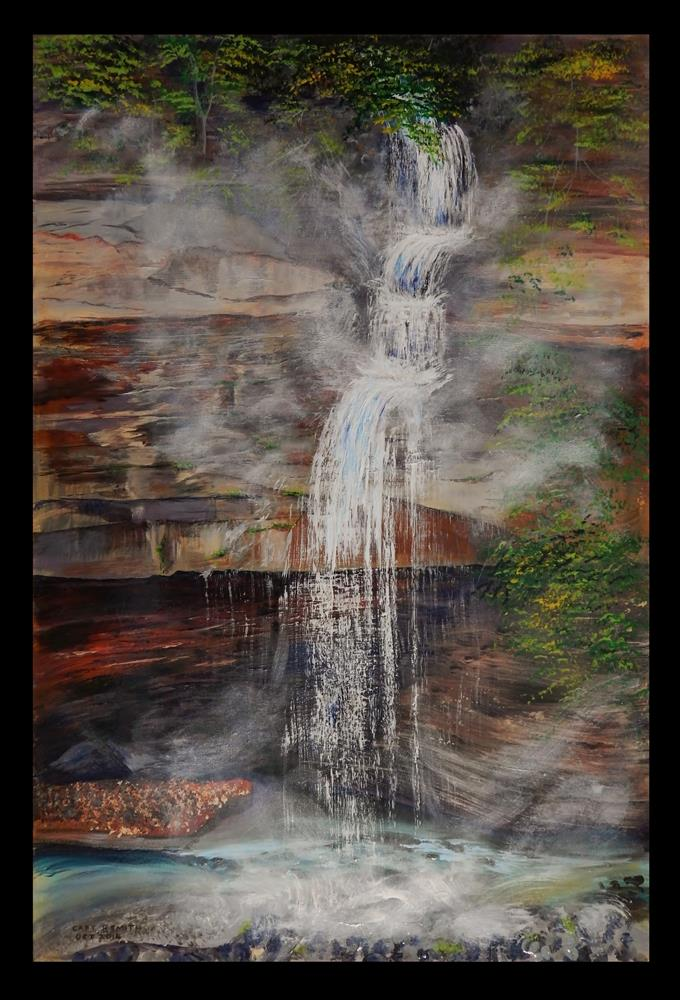 """Waterfall, Bedford Aqueduct"" original fine art by Captain B Smith"