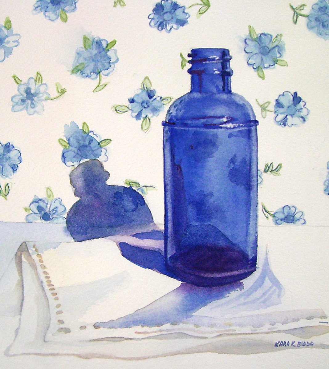 """Cobalt Blues"" original fine art by Kara K. Bigda"
