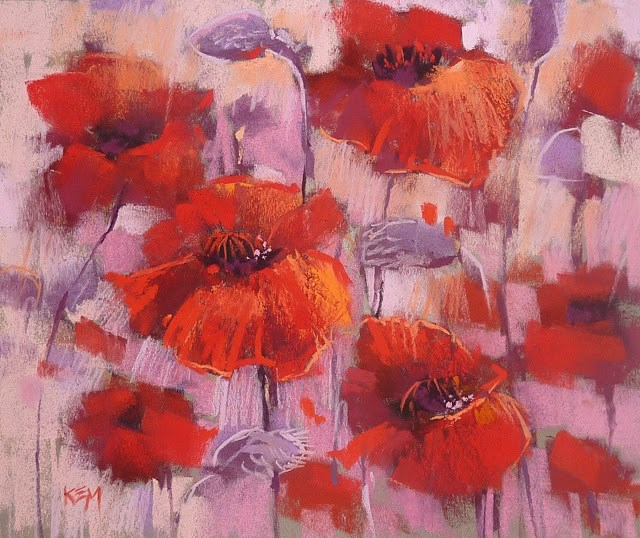 """Making a Challenging Color Scheme Work"" original fine art by Karen Margulis"