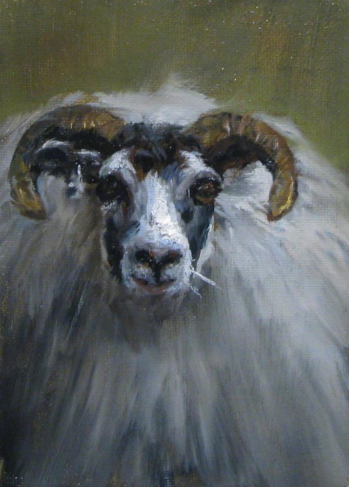 """Sheep shape"" original fine art by tom dawson"