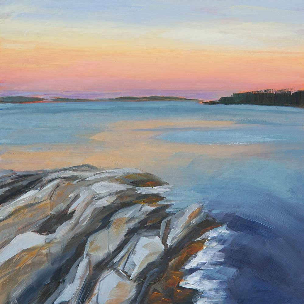 """#18 - Dusk - Boothbay Harbor, ME"" original fine art by Sara Gray"