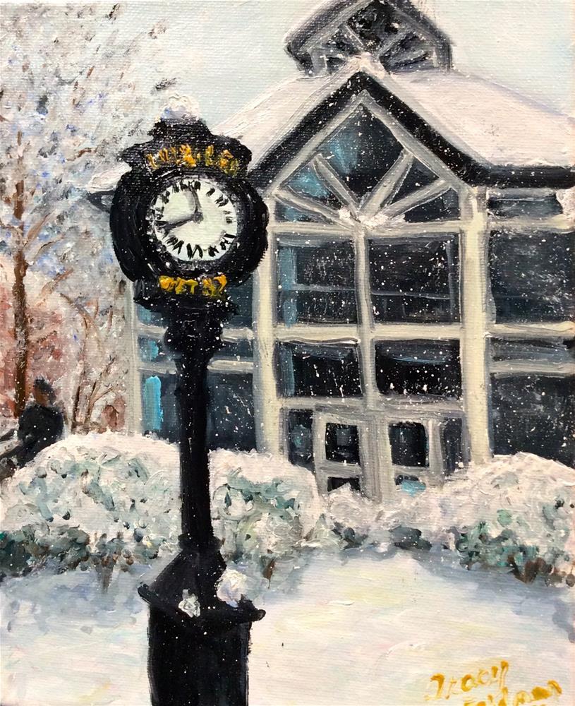 """""""Snowy Day at F&M 1"""" original fine art by Tracy Feldman"""