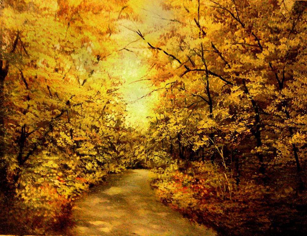 """Shady Path"" original fine art by Bob Kimball"