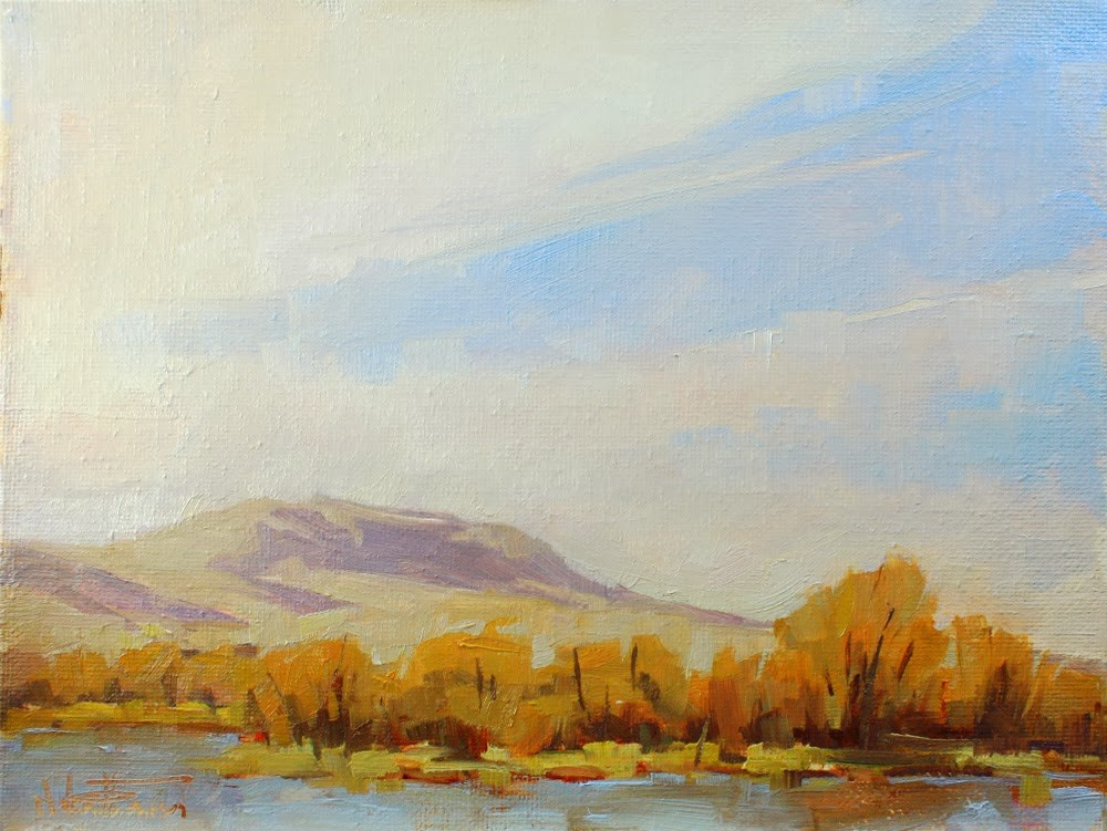 """Winter Wetland"" original fine art by Melanie Thompson"