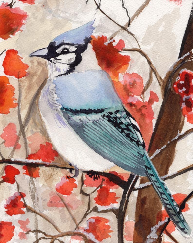 """""""Blue Jay #3"""" original fine art by Bunny Griffeth"""