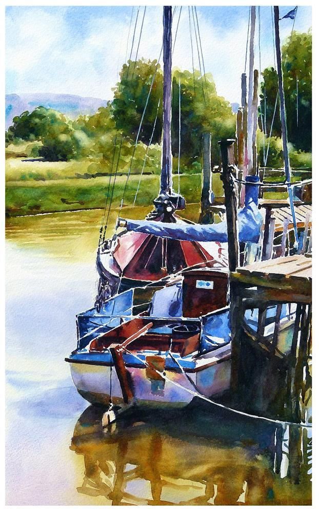 """Skippool creek boats."" original fine art by Graham Berry"