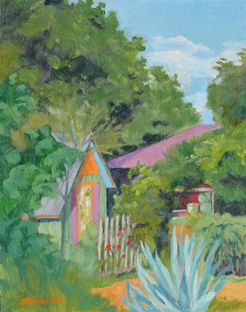 """Storybook garden"" original fine art by Susan Andersen"