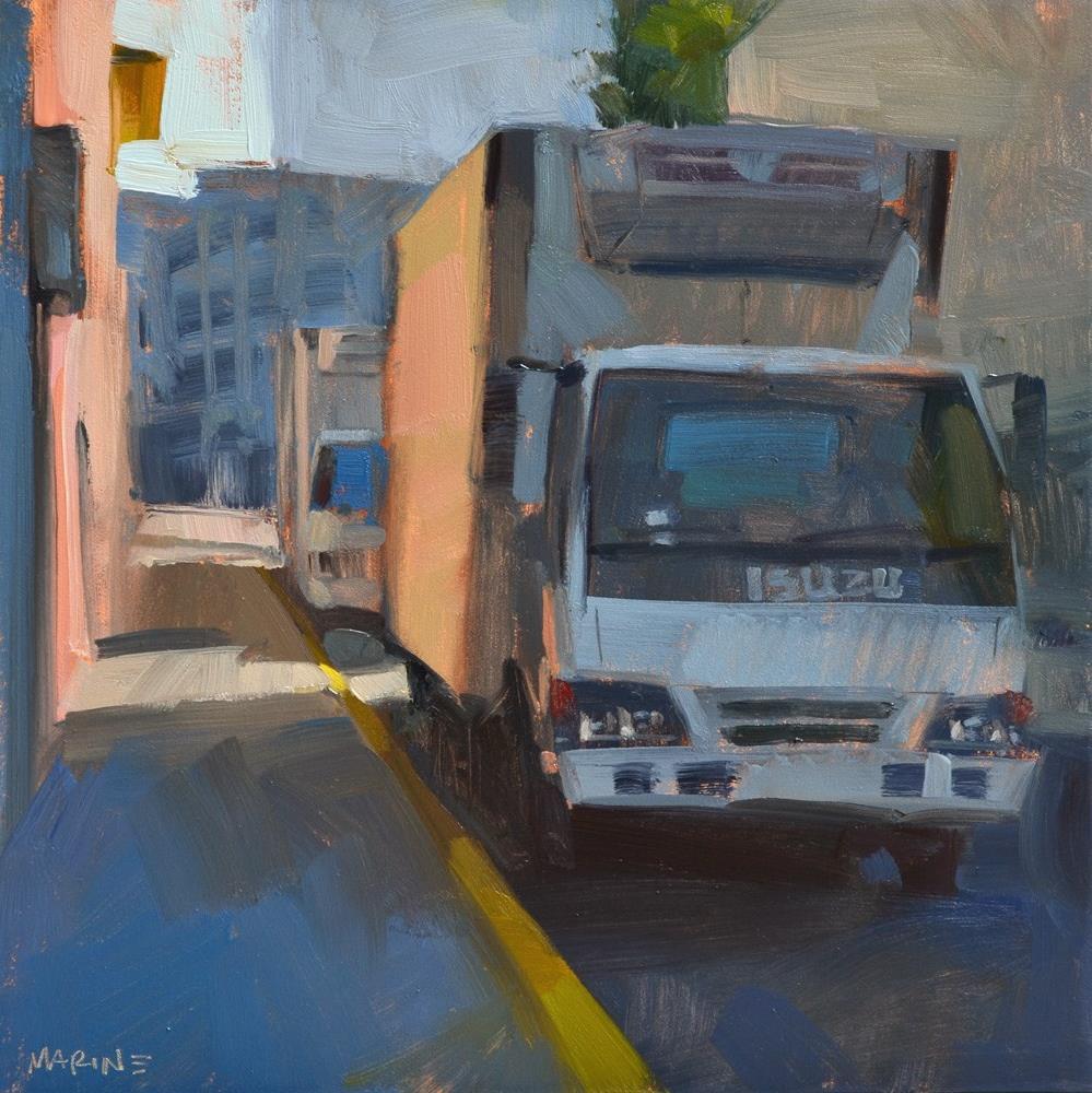 """""""Isuzu Alley"""" original fine art by Carol Marine"""