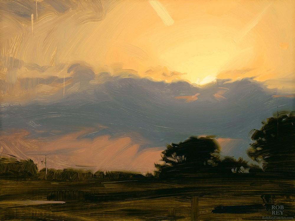 """""""Golden Light"""" original fine art by Rob  Rey"""
