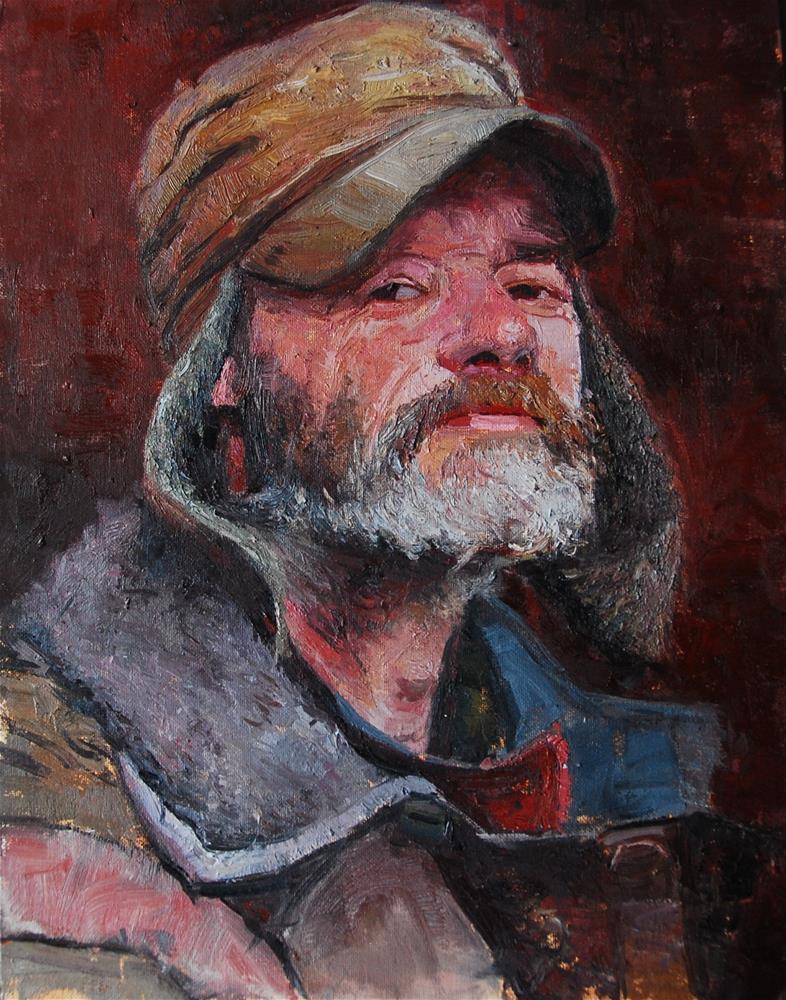 """The Face of Homelessness, Earls Court Rd"" original fine art by Adebanji Alade"