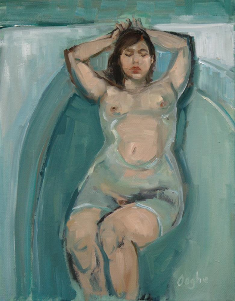 """Woman in Bath"" original fine art by Angela Ooghe"