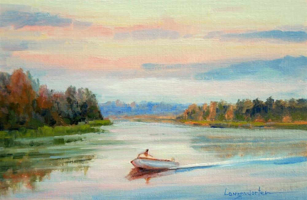 """MORNING SKY"" original fine art by Dj Lanzendorfer"