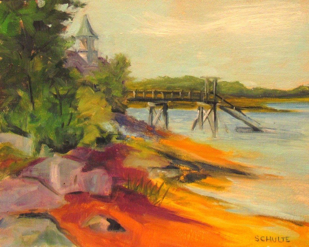"""Cove and Dock"" original fine art by Lynne Schulte"