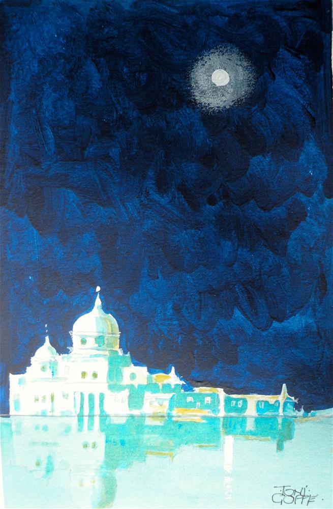 """Moonlit Palace"" original fine art by Toni Goffe"