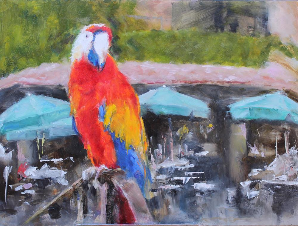 """""""Sunset at Las Mananitas"""" original fine art by Karen Solorzano"""