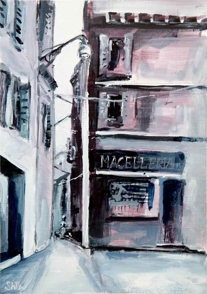 """2121 Macelleria"" original fine art by Dietmar Stiller"