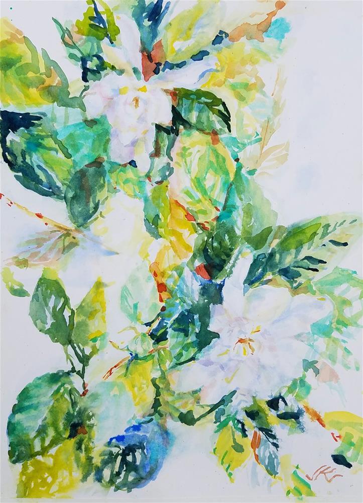 """Gardenia"" original fine art by Jean Krueger"