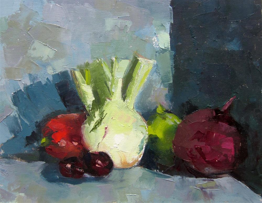 """""""Still Life with Fennel"""" original fine art by Carol Wiley"""