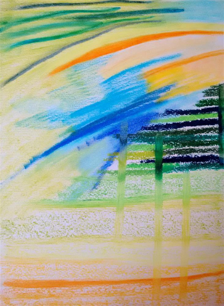 """""""Flowing from the Sky"""" original fine art by Adéla Svobodová"""
