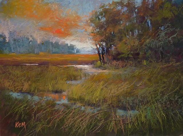 """""""Making the Most of a Textured Pastel Surface"""" original fine art by Karen Margulis"""