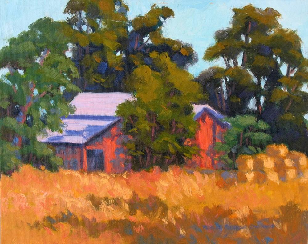 """The Old Red Shed"" original fine art by Rhett Regina Owings"
