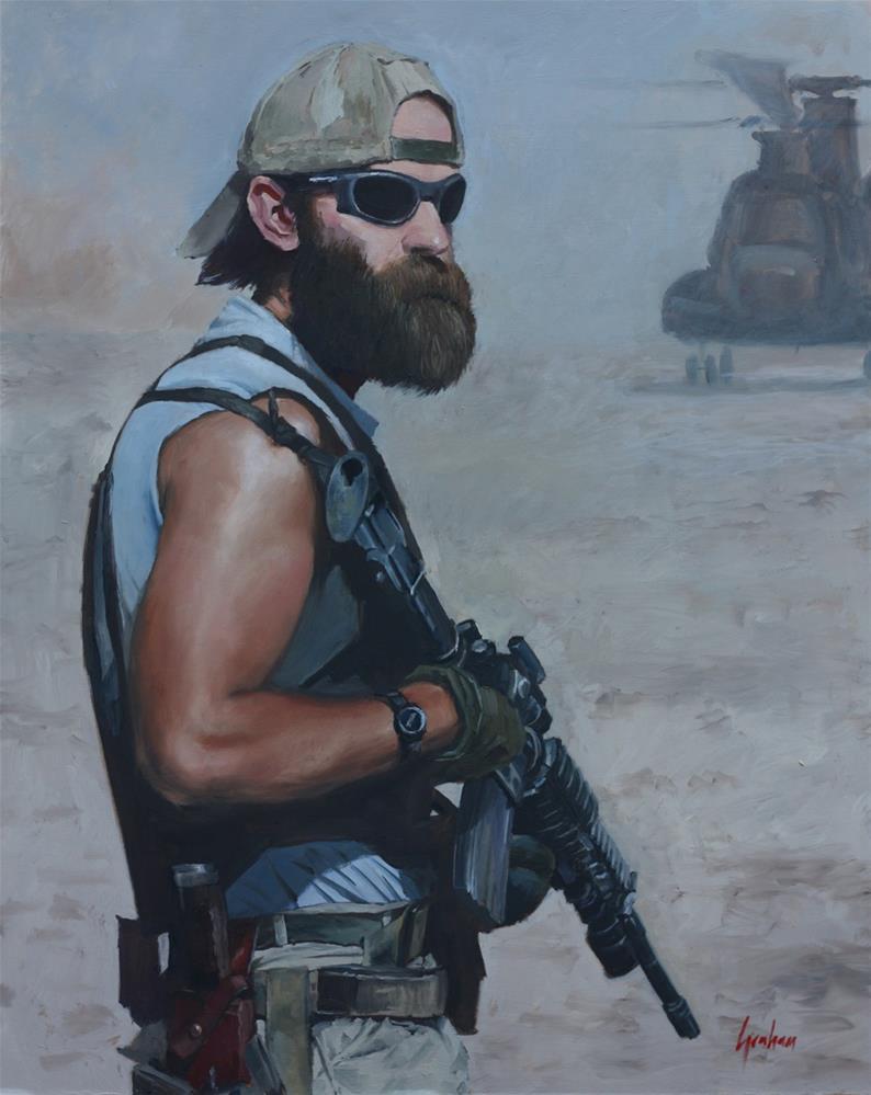 """Afghan Cowboy"" original fine art by Graham Townsend"